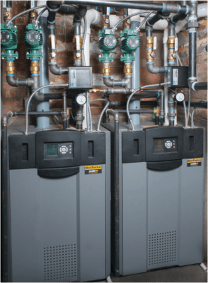 State of the art modulating boilers are up to 97% efficient and vary the amount of gas used to produce the exact amount of heat needed
