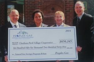 The Chatham project earned the biggest single rebate for a multi-family project in the program's history